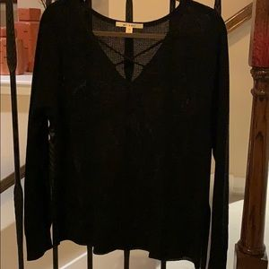 Waffle/thermal Top Size Medium Blk